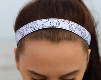 Womens Sport Volleyball Headband - Volleyball Team Headbands for Girls - Athletic Headband Adult Volleyball Gifts - Volleyball Hair