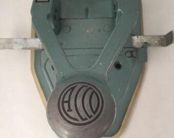 Vintage Acco 10X Hole Punch, 2 Hole, Guide Bard, Removable Bottom, Unique Design
