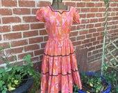 Vintage Patio Dress--Vintage Squaw Dress--Vintage Square  Special Order for Darlene