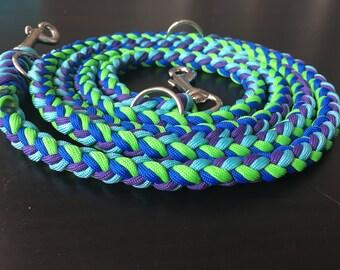 8 strand braid hands free dog leash