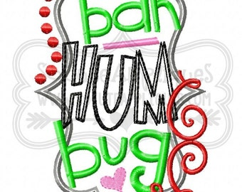 Bah Hum Bug!! Embroidered Shirt, Bodysuit, Burp Cloth, Dish Towel and more!