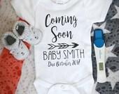 Coming Soon - Birth Annoucement Onesie