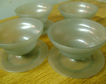 Vintage Dessert Cups Tupperware Pudding Dishes Set of 4