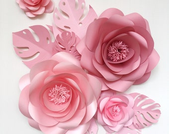 Baby Room Paper Flowers - Paper Flowers for Nursery Room - Hanging Paper Flowers - Paper Flower set
