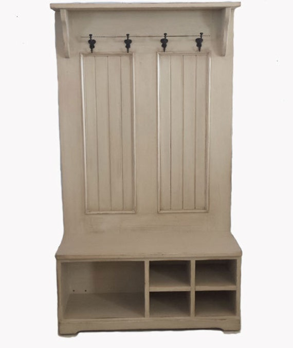 Hall Tree With Bench Cubby Shoe Bench Coat Hanger