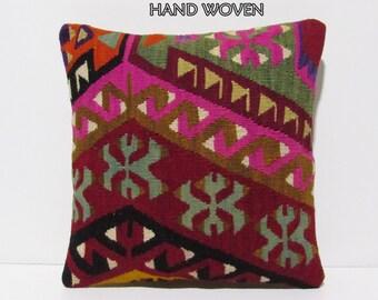 spring kilim pillow 18x18 arrow decorative pillow pink throw pillow chevron pillow cover chair pillow cover turkish pillow case rustic C1237