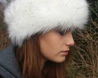 Beautiful Faux Husky Fur Headband / Neckwarmer / Earwarmer Handmade in Lancashire England