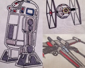 Set of 7 Star Wars Machine Embroidery Designs
