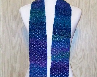 Blue Lacy Scarf