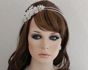 Swarovski Crystal Headband Bridal Headpiece Bride Hair Accessories Wedding Head Band Piece Beaded Weddings Jewelry Accessory Hairpiece