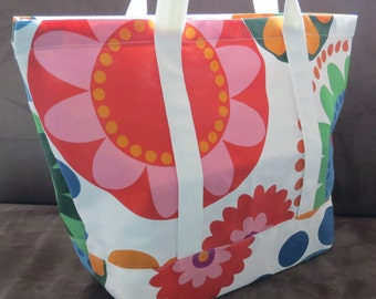 Colorful Tote bag, cotton bag, reusable grocery bag, Green Market bag