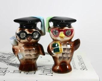 Owl graduates Salt and Pepper Shakers