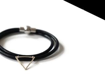 Silver mini double bracelet.