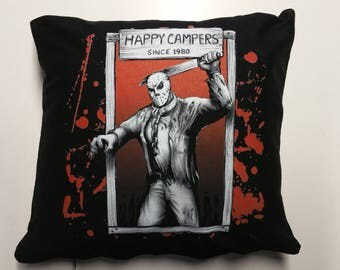 The Jason Voorhees Happy Campers Cushion Cover