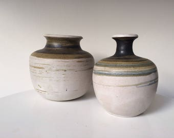 California Modern Studio Pottery Weedvase Pair