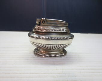 Ronson Queen Anne Lighter Silver Plated Early Version