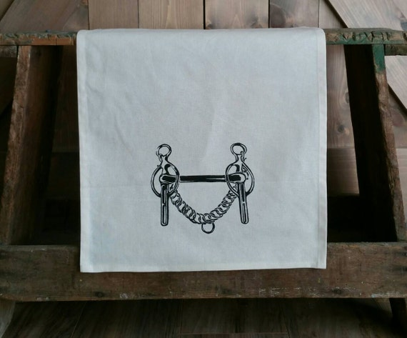 Tea Towel- Liverpool Curb Bit- Unbleached Cotton Equestrian Tea Towel