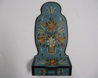 Norwegian Rosemaling on a treasure box