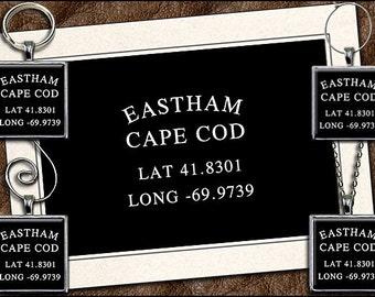 Eastham Note Card Set - Eastham Pendant, Eastham Keyring, Eastham Ornament, Eastham Wine Charm, Cape Cod Note Card Handmade (GP200)