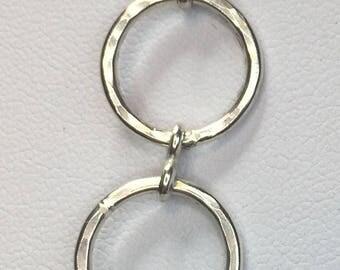 Beaten Silver Link Bracelet