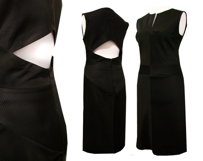 Bias black back dekollete dress unique piece size Medium