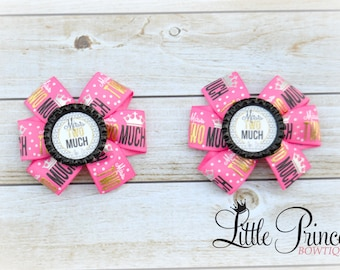 Miss Two-Much, Birthday Bow, Pinwheels Bow Set, Pig Tails Set