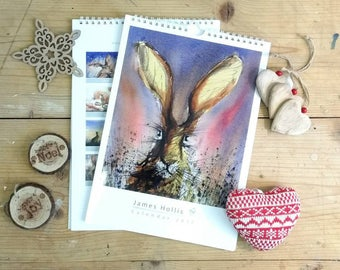 2018 Calendar Rabbits Watership Down by British artist James Hollis