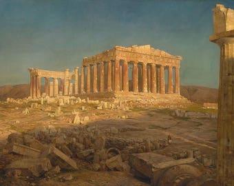 "Frederic Edwin Church : ""The Parthenon"" (1871) - Giclee Fine Art Print"