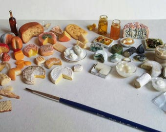 Miniature cheese set, cheese plate