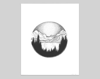 Glacier National Park Print - Circle