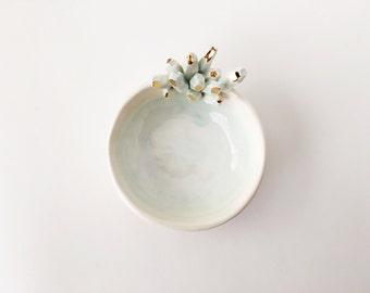 Crystal Jewelry Dish - Ceramic Ring Holder - Crystal Ring Holder - Potterylodge - Ceramics and Pottery