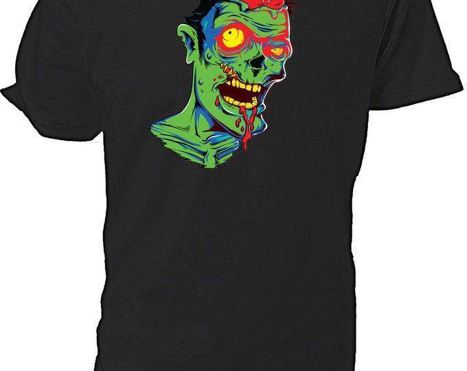 Zombie Horror T shirt choice of sizes and colours,