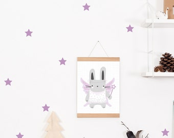 Wall decals / wall sticker 42 star purple