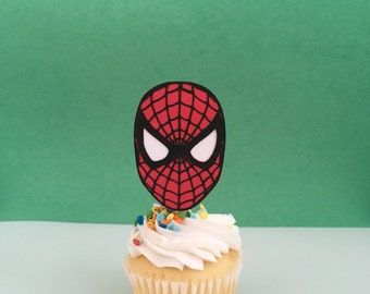 Spiderman Inspired Cupcake Topper