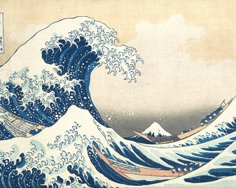 The Great Wave off Kanagawa, Early to mid 1800's Print