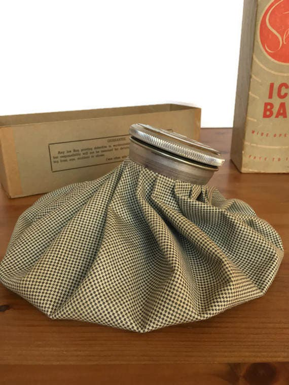1950s ice bag Service brand 9' rubberized vintage first aid cold compress