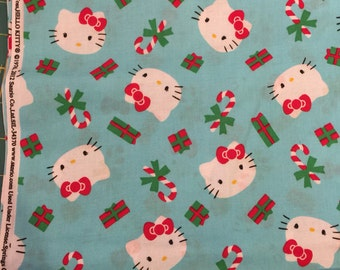 Hello Kitty Cotton Christmas Fabric Sold BTY