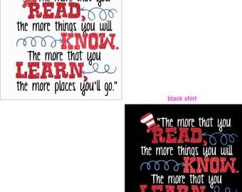 Read, Know Learn glitter shirt