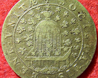Brass Jeton Struck In The Eighteenth Century For The Corporation Des Marchands De Paris.
