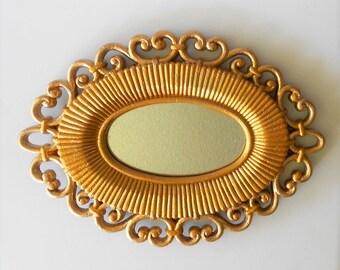 "Mirror, Oval Wall Mirror, Oval Mirror, Wall Mirror, Decorative Wall Mirror, Small Wall Oval Mirror, Wall Mirror Decor, 9.5""by 7"