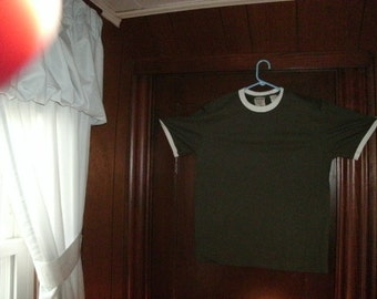 Timberland size large ringer. shirt is olive green with white ringer BRAND NEW