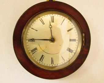 1920s Mahogany Vintage Wall Clock