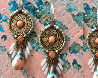 Pueblo Cloud Disc Earrings