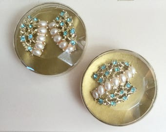 Sale!!! Vintage Emmons Matching Brooch and Earrings Set