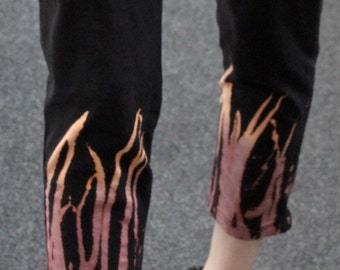 Pretty Disturbia fire alternative bleached punk grunge indie black leggings