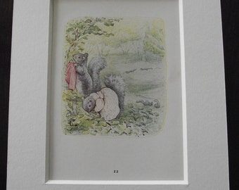 Original 1940's edition of Beatrix Potter's  'The Tale of Timmy Tiptoes'.
