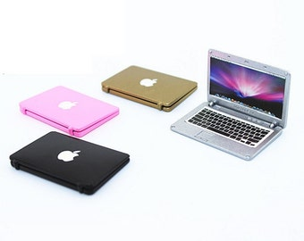 Wholesale lot  4pcs  multi colors  Dollhouse Miniature  Laptop computer macbook