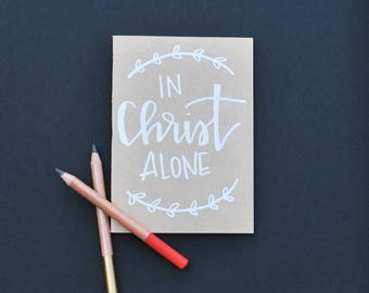 Hand lettered embossed journal- small