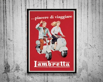 Reprint of a Vintage GItalian Scooter Makers Poster