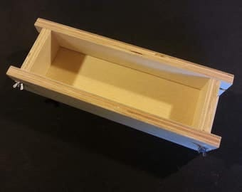 1 Adjustable 3-1 Lb Soap Mold Cold or Hot Process Molds Loaf-Bar , Handmade Wooden Wood